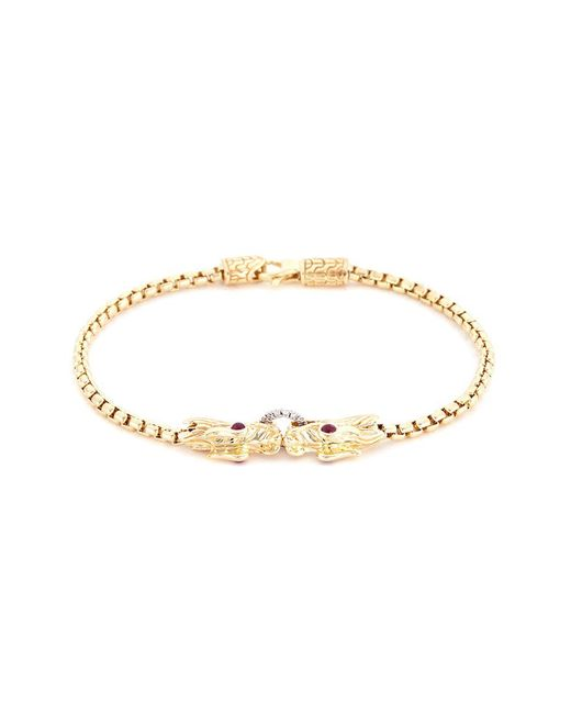 John Hardy - Metallic Diamond Ruby 18k Yellow Gold Naga Chain Bracelet - Lyst