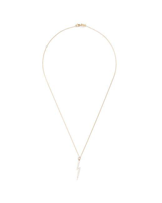 Khai Khai - Metallic 'zeus' Diamond 18k Yellow Gold Lightning Bolt Necklace - Lyst