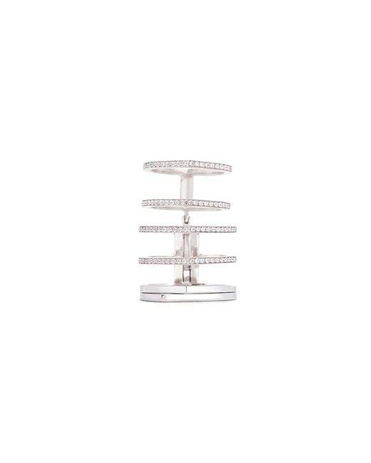 Repossi - 'antifer' Diamond Pavé 18k White Gold Six Row Linked Ring for Men - Lyst