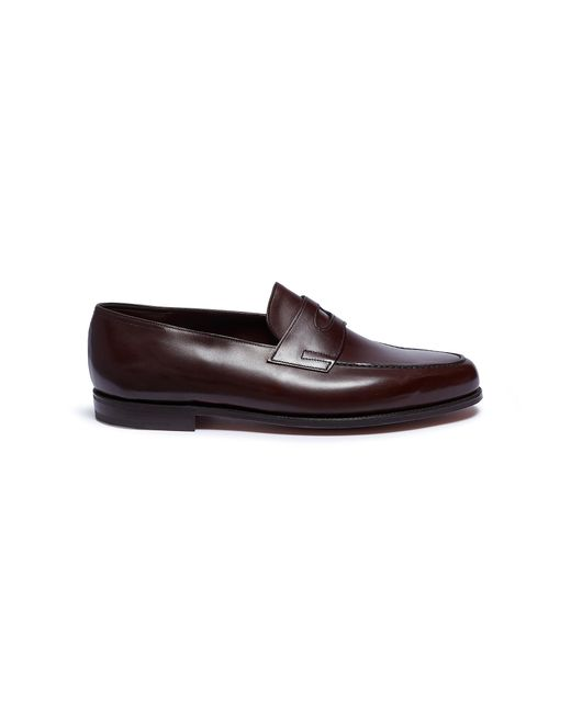John Lobb - Brown 'lopez' Leather Penny Loafers for Men - Lyst
