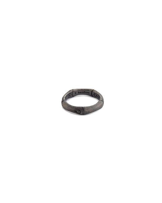 John Hardy - Metallic Brushed Rhodium Silver Bamboo Ring - Lyst