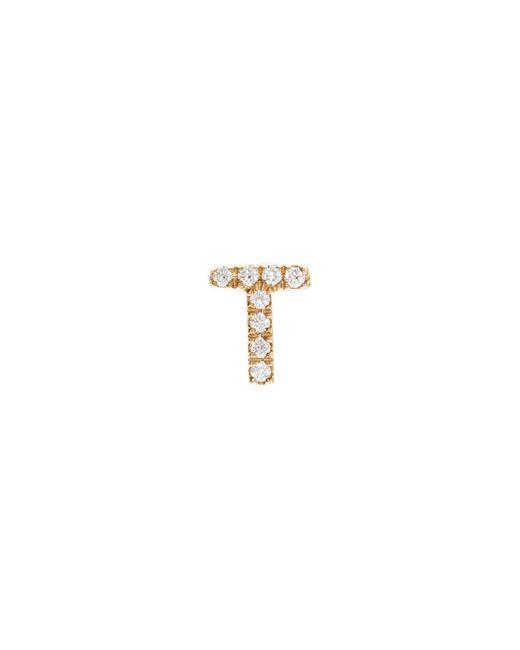 Loquet London - Metallic Diamond 18k Yellow Gold Letter Charm – T - Lyst