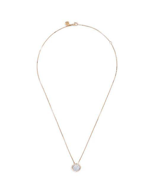John Hardy - Metallic Diamond 18k Yellow Gold Small Pendant Necklace - Lyst