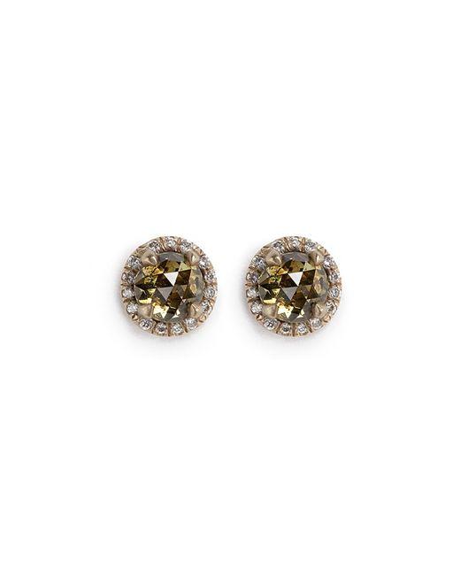 Monique Péan - Metallic 'atelier' Halo Diamond 18k Recycled Gold Stud Earrings - Lyst