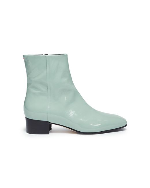 Aeyde - Blue 'naomi' Patent Leather Ankle Boots - Lyst