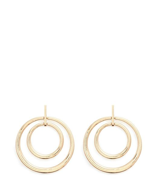 Kenneth Jay Lane | Metallic Concentric Ring Drop Earrings | Lyst