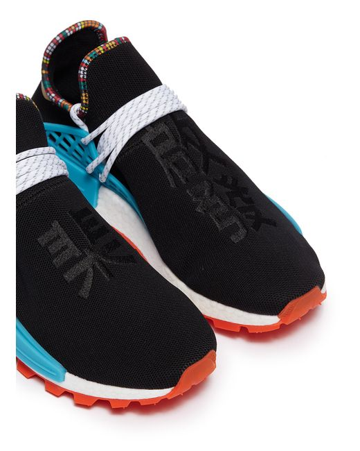 b56e18db0e57d ... Lyst Adidas Originals - Black  solarhu Nmd  Slogan Embroidered  Primeknit Sneakers for Men ...
