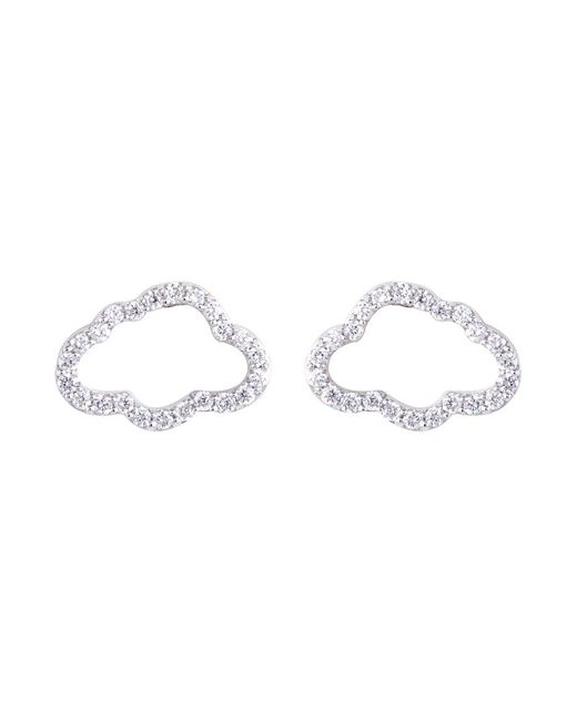 Khai Khai - Metallic Diamond 18k White Gold Cloud Stud Earrings - Lyst