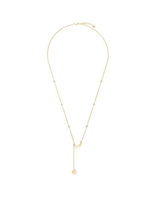 LC COLLECTION - Metallic 'lucky Charm' Diamond 18k Yellow Gold Moon And Star Necklace - Lyst
