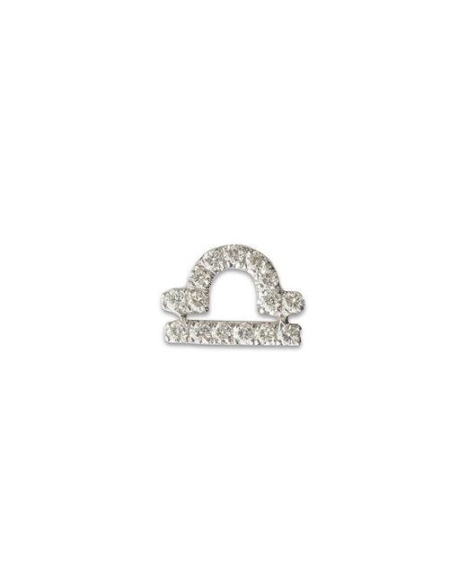 Loquet London - Multicolor 18k White Gold Diamond Zodiac Charm - Libra - Lyst