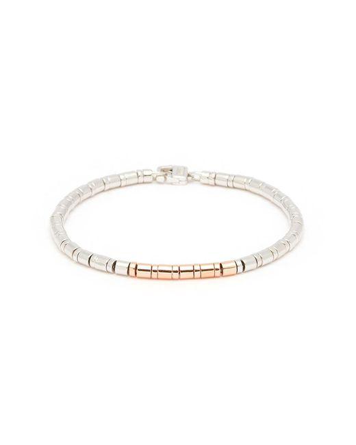 Tateossian - Metallic 'pure Bamboo' Rose Gold Rhodium Silver Disc Bracelet for Men - Lyst