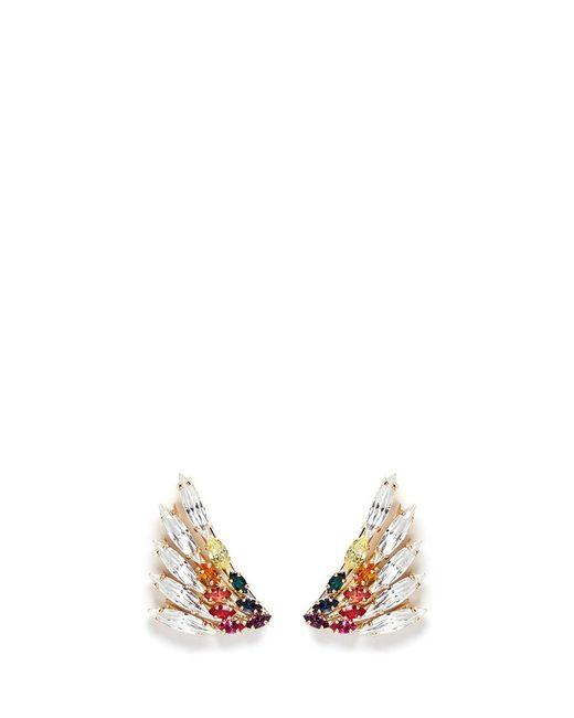 Anton Heunis | Metallic Swarovski Crystal Rainbow Wing Earrings | Lyst