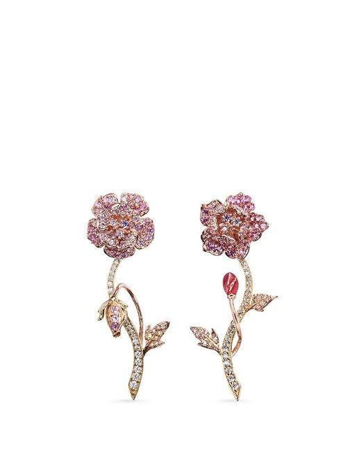 Anabela Chan | Metallic 'geranium' Detachable Diamond Sapphire 18k Gold Earrings | Lyst