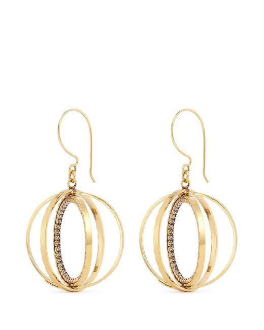 Erickson Beamon | Metallic 'third Dimension' Swarovski Crystal Sphere Drop Earrings | Lyst