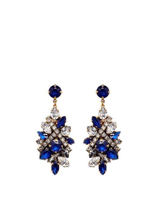 Erickson Beamon   Blue 'parlor Trick' Swarovski Crystal Cluster Drop Earrings   Lyst
