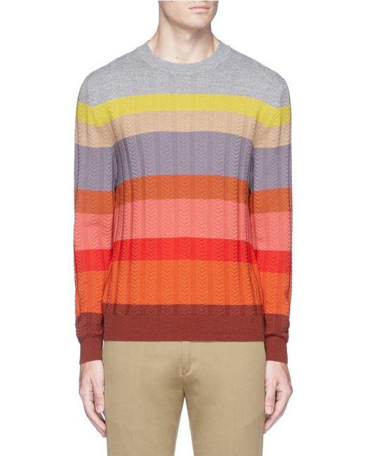 Paul Smith | Multicolor Herringbone Rib Merino Wool Sweater for Men | Lyst