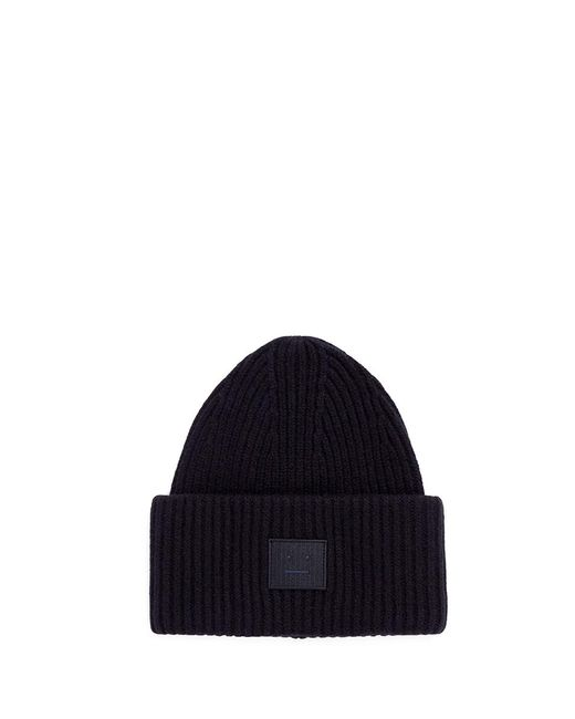 Acne | Black 'pansy L Face' Emoticon Patch Beanie for Men | Lyst