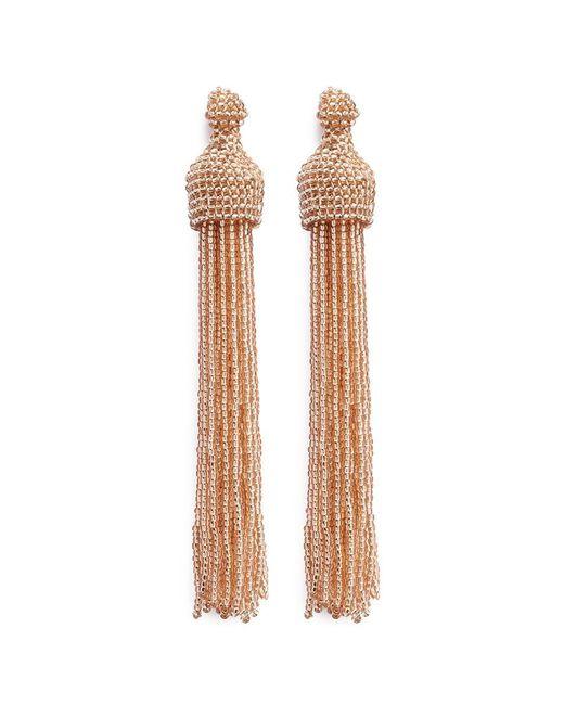 Kenneth Jay Lane | Metallic Beaded Tassel Earrings | Lyst