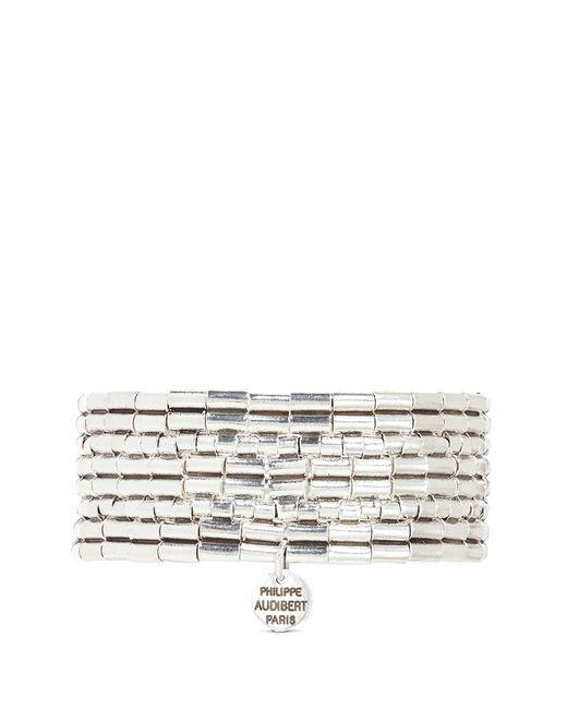 Philippe Audibert   Metallic 'line Three' Segmented Plate Elastic Bracelet   Lyst