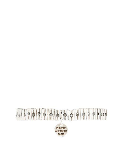 Philippe Audibert | Metallic 'claudie' Swarovski Crystal Bead Elastic Bracelet | Lyst