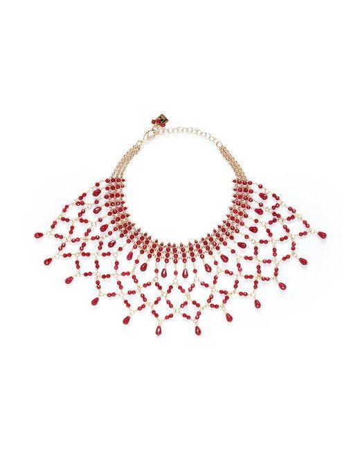 Rosantica | Red 'rete' Lattice Effect Bead Bib Necklace | Lyst
