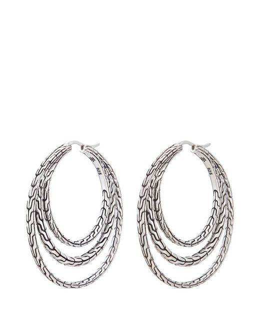 Silver hoop earrings - Balinese Women's Sterling Silver Handcrafted Wide Band Ring