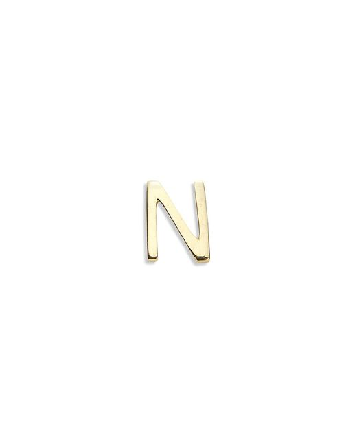 Loquet London | Metallic 18k Yellow Gold Letter Charm - N | Lyst