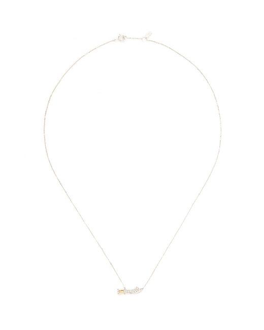 Bao Bao Wan | Metallic Sword Pendant Diamond Pavé 18k Gold Necklace | Lyst