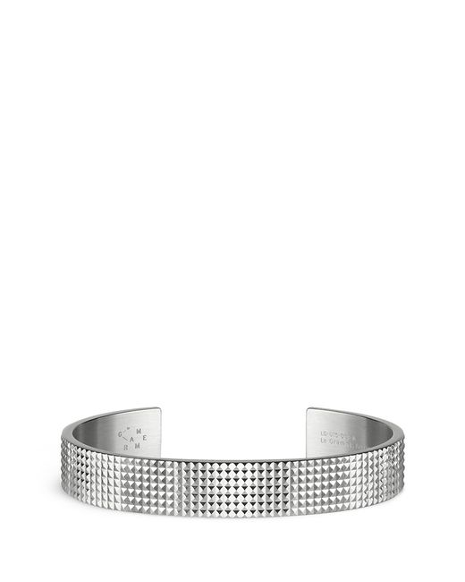 Le Gramme | Metallic 'guilloché Le 33 Grammes' Stud Sterling Silver Cuff for Men | Lyst