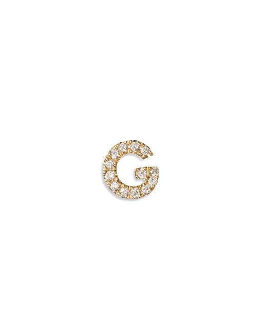 Loquet London | Pink Diamond 18k Yellow Gold Letter Charm - G | Lyst
