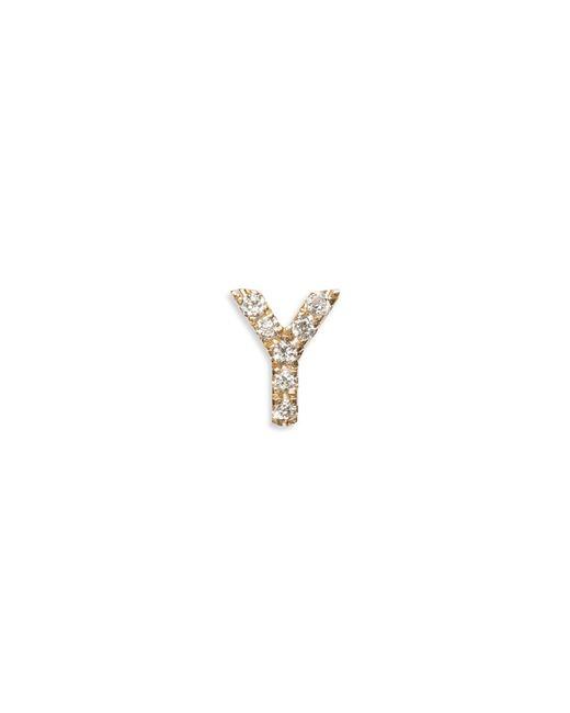 Loquet London | Metallic Diamond 18k Yellow Gold Letter Charm - Y | Lyst