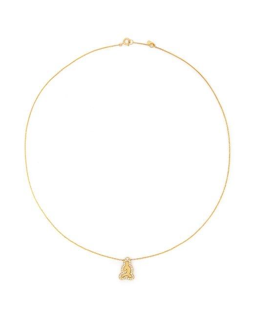 Bao Bao Wan | Metallic 'little Buddha' 18k Gold Diamond Necklace | Lyst