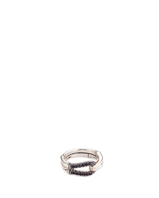 John Hardy | Metallic Sapphire Sterling Silver Loop Ring | Lyst