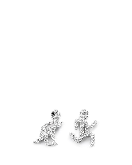 Khai Khai | Metallic 'running Man' Diamond Earrings | Lyst