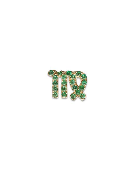 Loquet London | Green 18k Yellow Gold Emerald Zodiac Charm - Virgo | Lyst