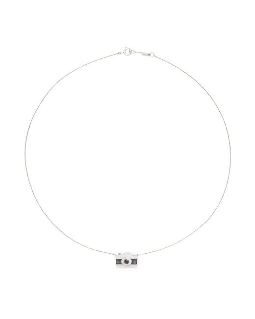 Bao Bao Wan | Metallic 'little Camera' 18k Gold Diamond Moonstone Necklace | Lyst