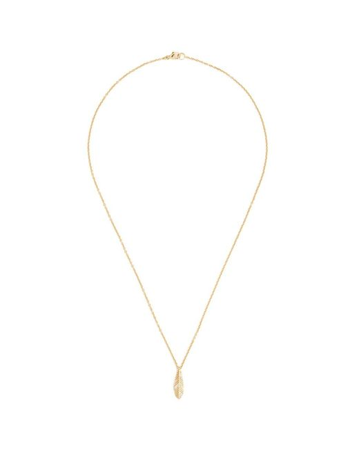 Pamela Love | Metallic 'frida' Diamond Feather Pendant 18k Gold Necklace | Lyst