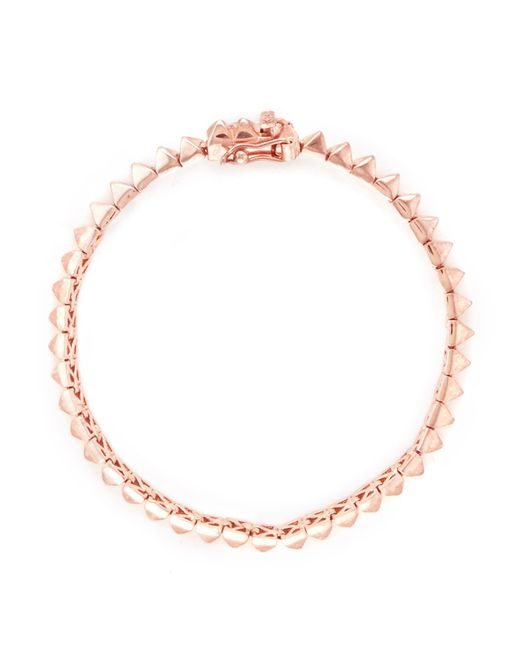 Eddie Borgo | Metallic Pyramid Stud Tennis Bracelet | Lyst