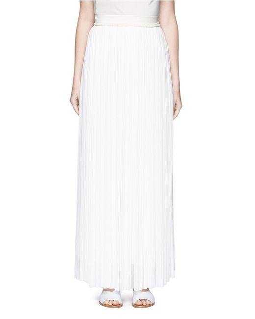 the row hanvo pleat tulle maxi skirt in white lyst