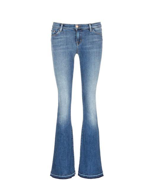 J brand u0026#39;sneaker Flareu0026#39; Slim Fit Jeans in Blue | Lyst