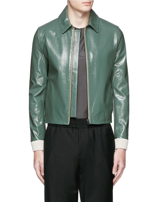 Acne mens leather jacket