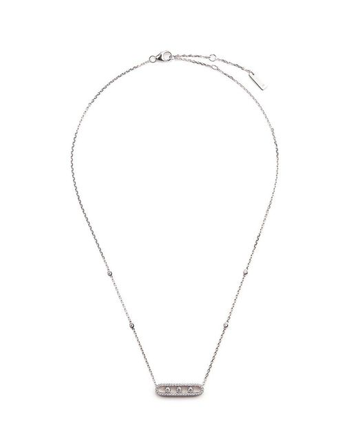 Messika | Metallic 'baby Move Pavé' Diamond 18k White Gold Necklace | Lyst