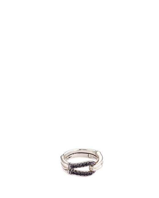 John Hardy - Metallic Sapphire Sterling Silver Loop Ring - Lyst
