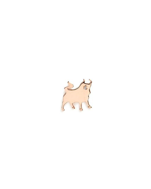 Loquet London | Metallic 18k Rose Gold Diamond Chinese New Year Charm - Ox | Lyst