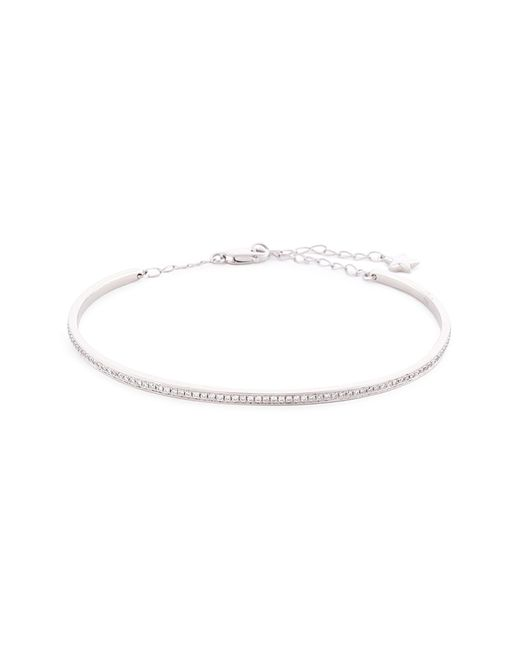 LC COLLECTION - Metallic Diamond White Gold Bangle - Lyst
