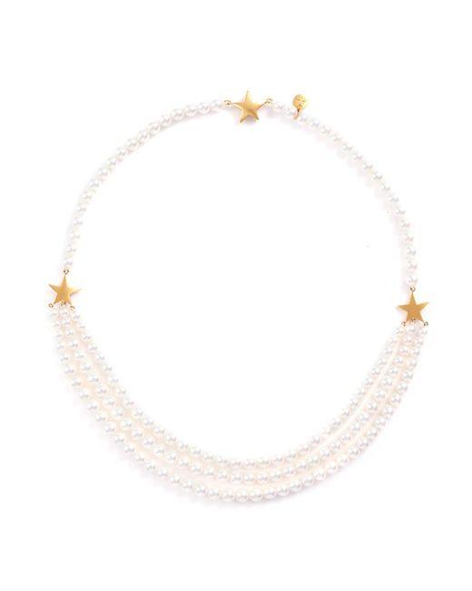 Tasaki | Metallic 'first Lady Star' Akoya Pearl 22k Yellow Gold Necklace | Lyst