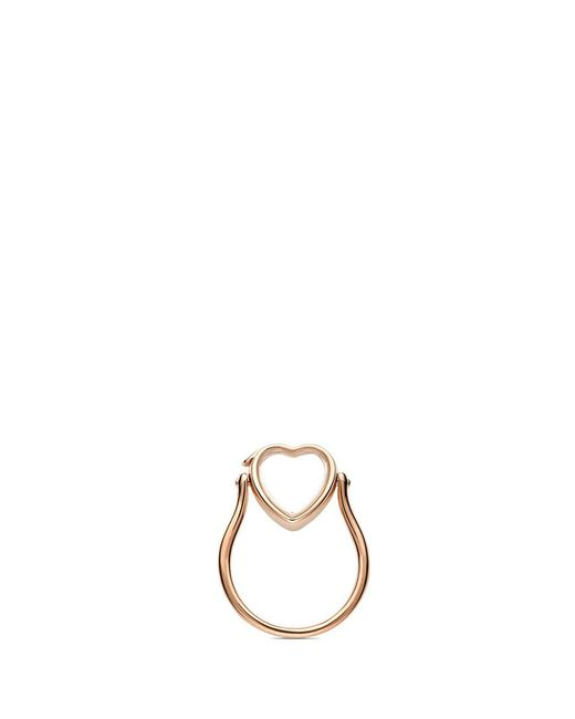 Loquet London | Metallic 14k Rose Gold Heart Locket Ring - Small 12mm | Lyst