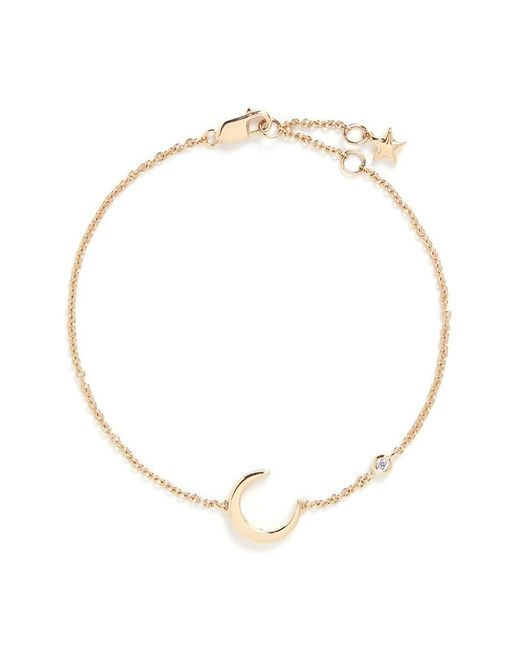 LC COLLECTION - Metallic 'lucky Charm' Diamond 18k Yellow Gold Moon Bracelet - Lyst