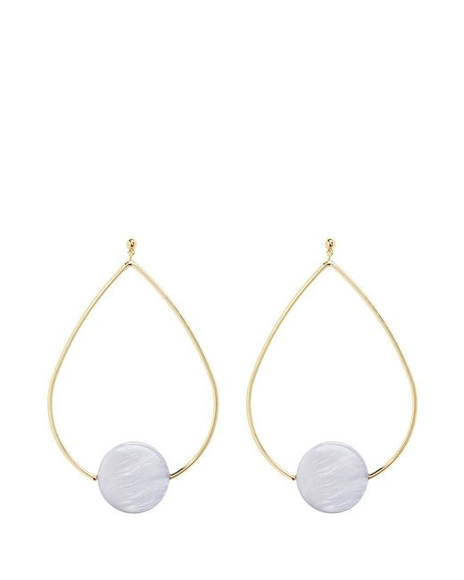 Elizabeth and James | Metallic 'charlotte' Coin Charm Teardrop Hoop Earrings | Lyst