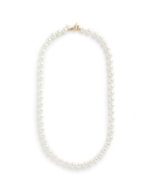 Kenneth Jay Lane - White Glass Pearl Necklace - Lyst